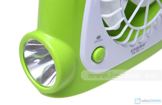 Quạt sạc kèm đèn loại lớn - thiết kế thông minh với 3 chức năng: quạt, đèn bàn và đèn pin tiện lợi - 5