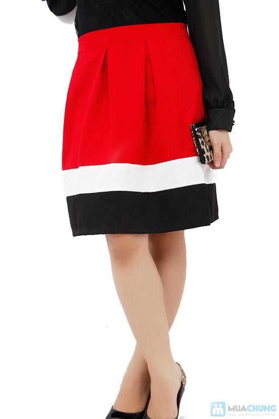 Chân váy xòe phối màu, kiểu dáng dễ thương - Chỉ 75.000đ/ 1 cái - 2
