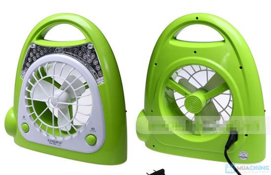 Quạt sạc kèm đèn loại lớn - thiết kế thông minh với 3 chức năng: quạt, đèn bàn và đèn pin tiện lợi - 3