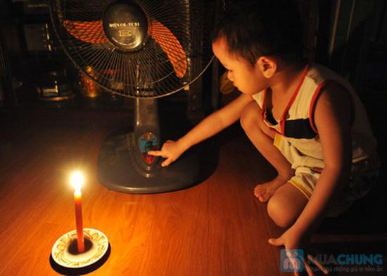 Quạt sạc kèm đèn loại lớn - thiết kế thông minh với 3 chức năng: quạt, đèn bàn và đèn pin tiện lợi - 6