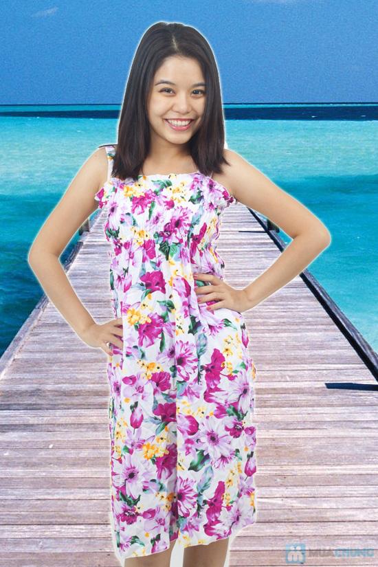 Đầm Maxi hoa dài mát mẻ cho mùa hè - Chỉ 75.000đ - 5