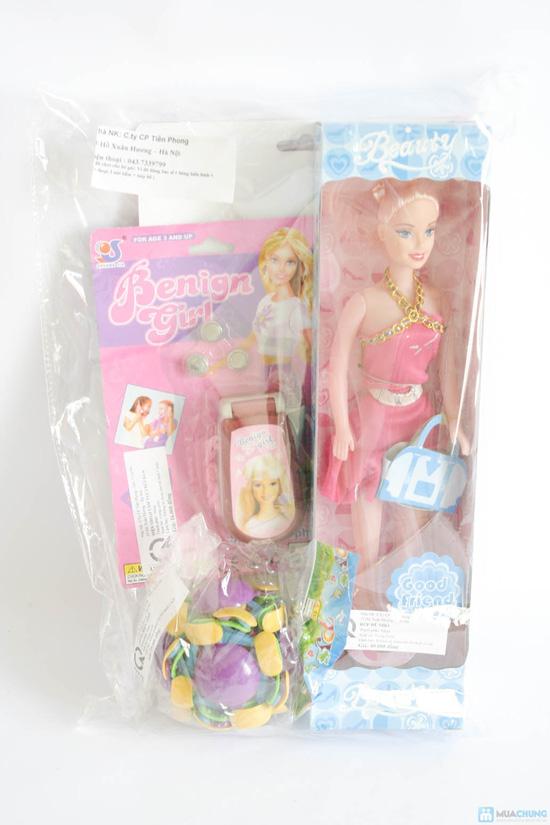 Bộ đồ chơi cho bé gái (vỉ đồ chơi đồ dùng bác sĩ + bóng biến hình + điện thoại 3 nút bấm + búp bê nhỏ) - 9