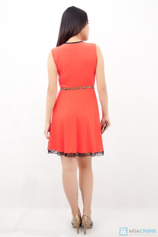 Đầm xòe viền ren chân váy - 4