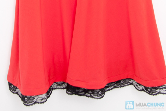 Đầm xòe viền ren chân váy - 7