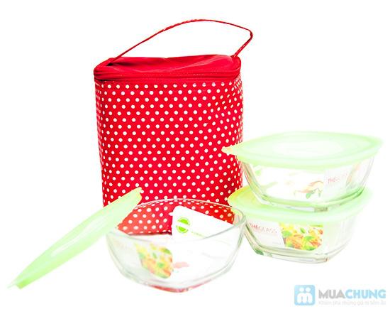 Bộ 3 hộp thuỷ tinh Glass và túi giữ nhiệt - 1