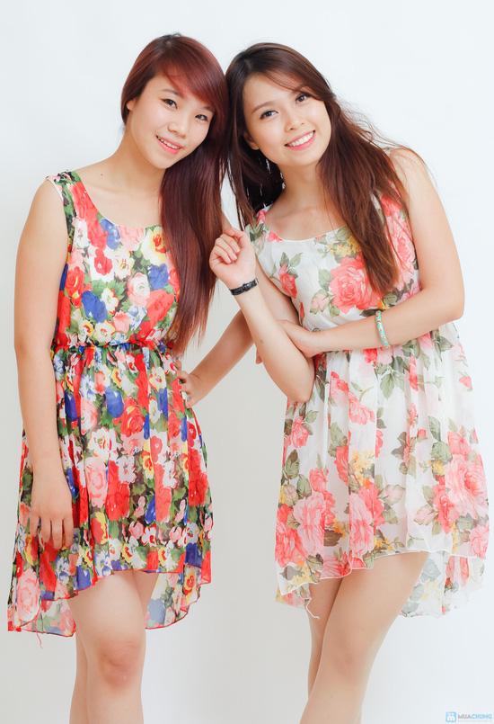 váy voan hoa mullet - 2