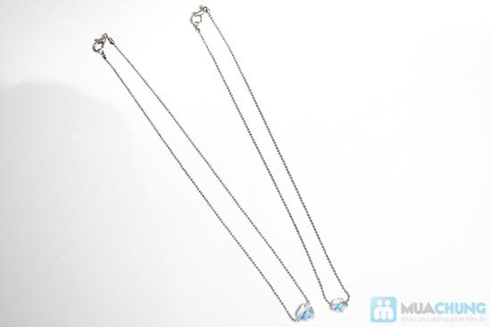 Combo 2 sợi dây chuyền kiểu Hàn Quốc mặt pha lê - 1