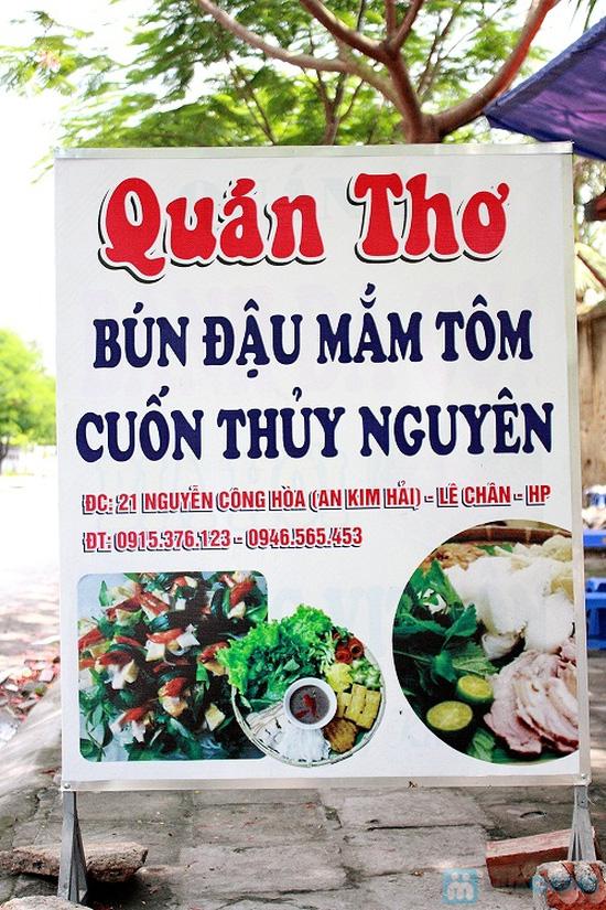 Set ăn bún đậu mắm tôm + cuốn Thủy Nguyên dành cho 02 người tại Quán Thơ - Chỉ 78.000đ - 9