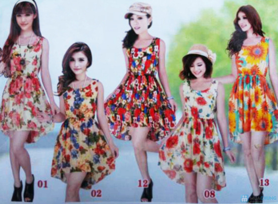 Váy voan hoa mullet - 1