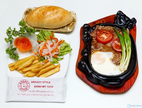 2 steak + bánh mỳ TƯƠI - 1