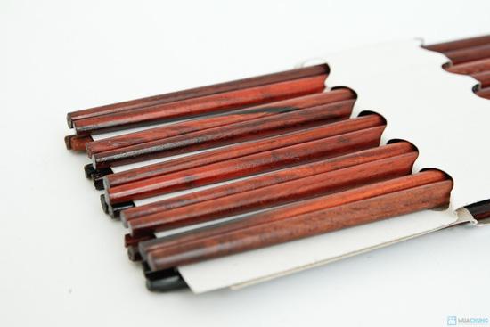 bộ 10 đôi đũa gỗ trắc Xuất khẩu Nhật - 3