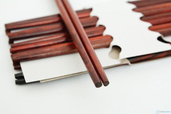 bộ 10 đôi đũa gỗ trắc Xuất khẩu Nhật - 5