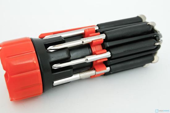 đèn pin siêu sáng và tua vít đa năng trong 1 - 3