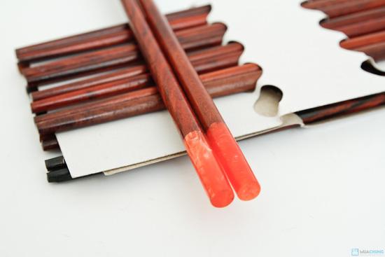 bộ 10 đôi đũa gỗ trắc Xuất khẩu Nhật - 7