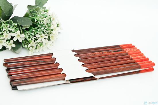 bộ 10 đôi đũa gỗ trắc Xuất khẩu Nhật - 1