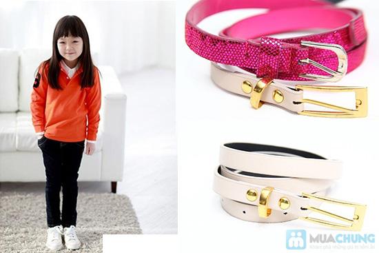 Combo 5 dây nịt bản nhỏ cho bé gái - 1
