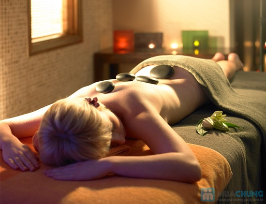 Tắm mịn bằng cám gạo huyết rồng và sữa ong chúa kết hợp massage toàn thân bằng đá bazan tại Dáng Tiên spa - 2