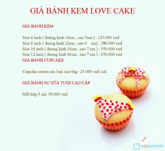 Phiếu mua bánh kem thơm ngon, đẹp mắt tại Love Cake - 1