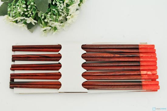 bộ 10 đôi đũa gỗ trắc Xuất khẩu Nhật - 2