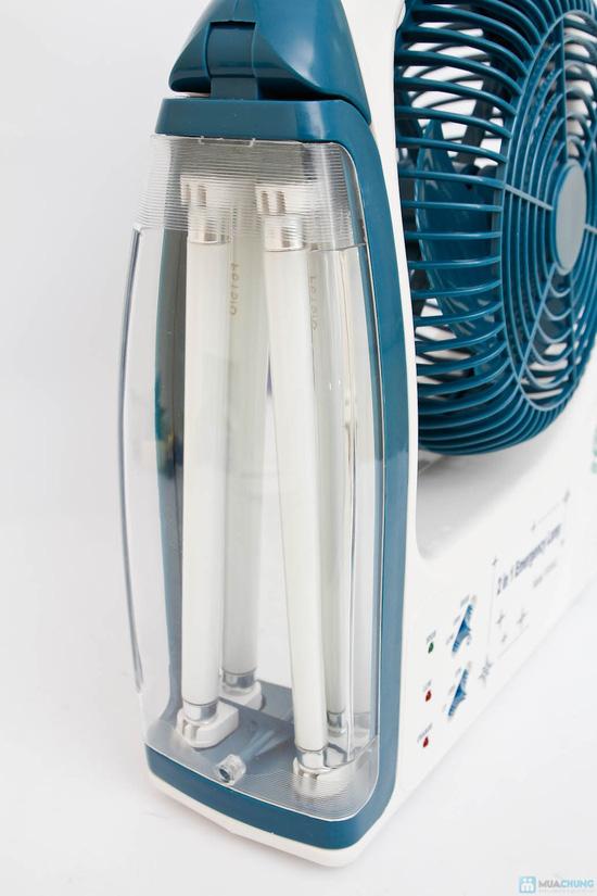 Quạt+ đèn sạc tích điện - 5