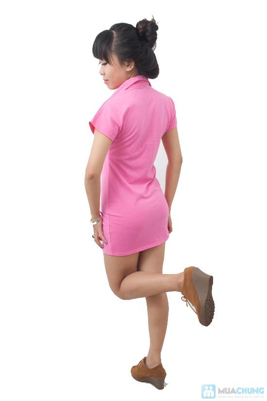 Đầm Hồng Thun Cá Sấu, kiểu dáng dễ thương - Chỉ 99.000đ/ 1 chiếc - 6