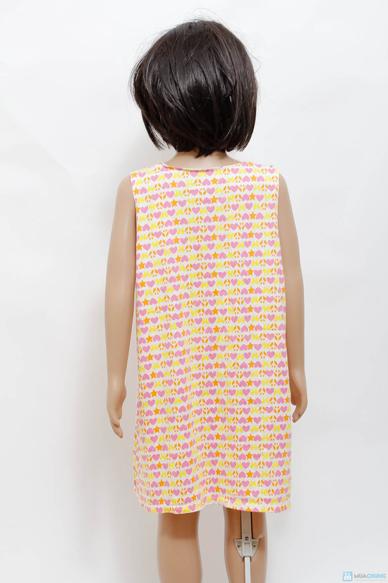 Váy cotton cách điệu cho bé gái - 5