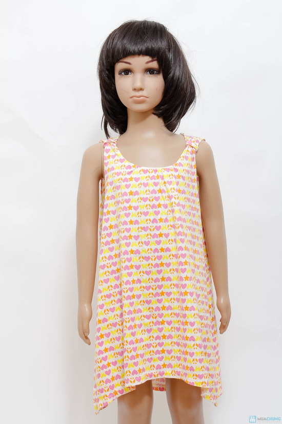 Váy cotton cách điệu cho bé gái - 1