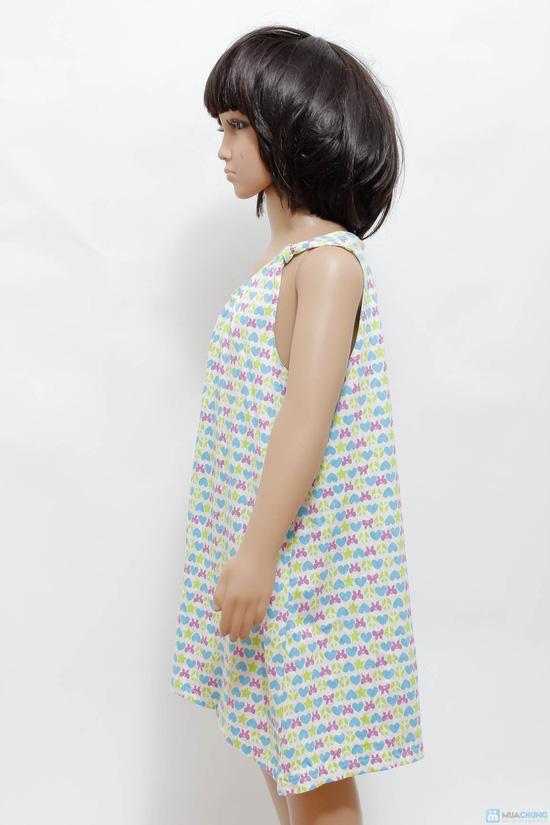 Váy cotton cách điệu cho bé gái - 9