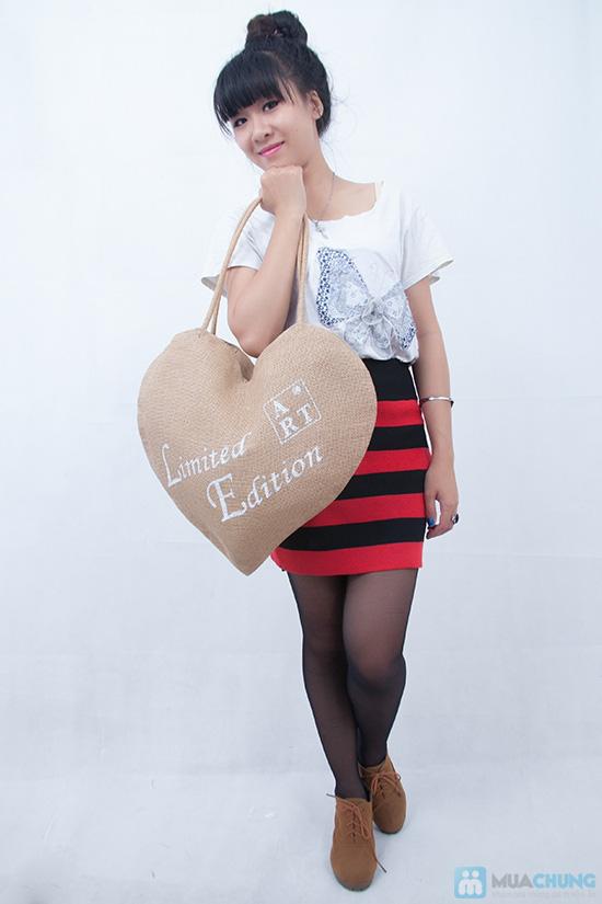 Giỏ xách hình trái tim - 4