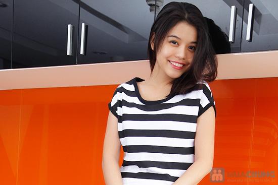 Đầm suông sọc ngang trắng đen cá tính - 8