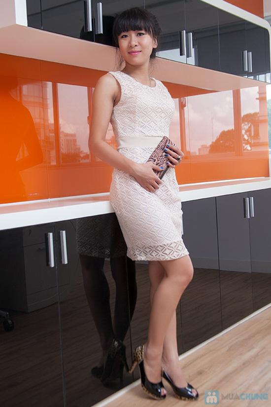 Đầm ren bo eo - 1