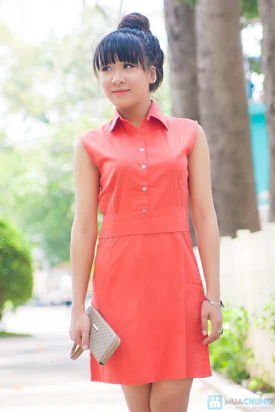 Cho bạn gái đẹp dịu dàng với đầm sơ mi đai eo - Chỉ 135.000đ/ 1 chiếc - 3