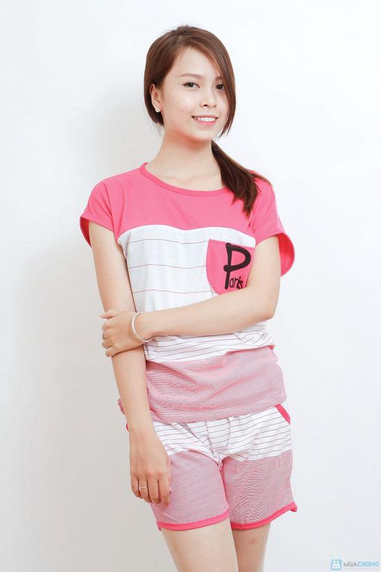 Combo 02 bộ mặc nhà kiểu dáng thể thao cho bạn gái - 10