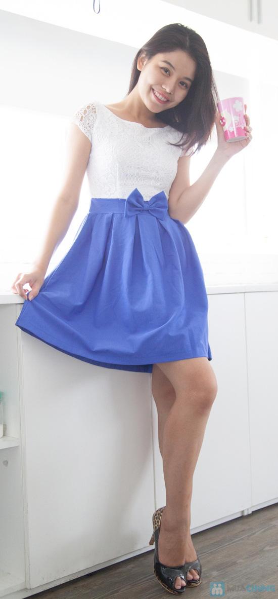 Đầm ren chân váy xòe kết nơ, kiểu dáng thời trang cho bạn gái thêm phần duyên dáng - Chỉ 155.000đ/ 1 chiếc - 4