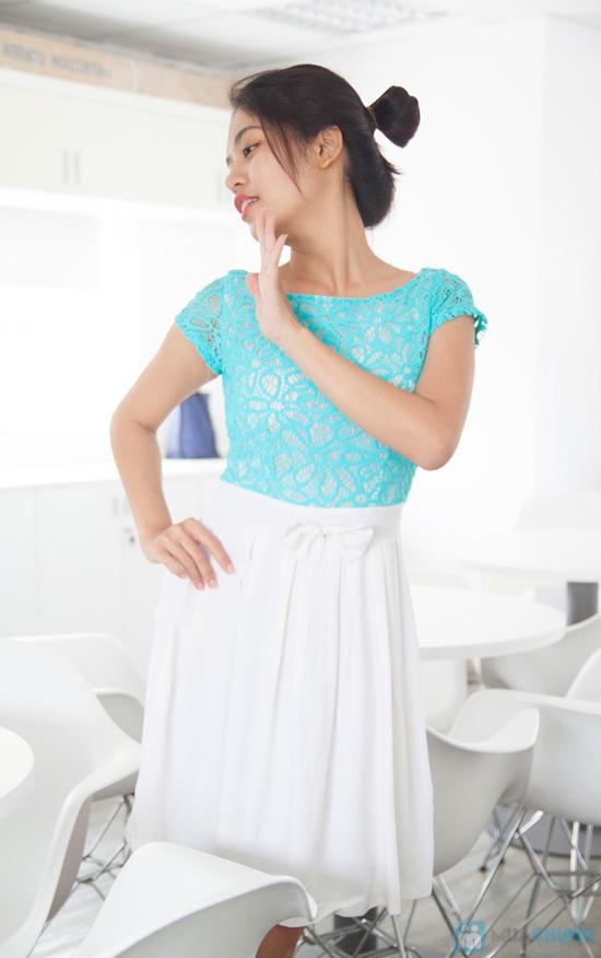 Đầm ren chân váy xòe kết nơ, kiểu dáng thời trang cho bạn gái thêm phần duyên dáng - Chỉ 155.000đ/ 1 chiếc - 10
