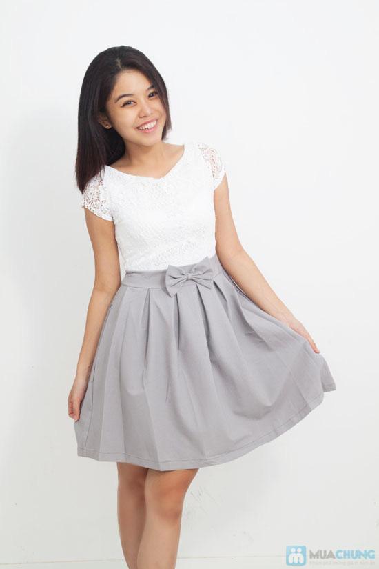 Đầm ren chân váy xòe kết nơ, kiểu dáng thời trang cho bạn gái thêm phần duyên dáng - Chỉ 155.000đ/ 1 chiếc - 13