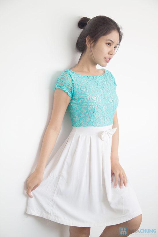 Đầm ren chân váy xòe kết nơ, kiểu dáng thời trang cho bạn gái thêm phần duyên dáng - Chỉ 155.000đ/ 1 chiếc - 7