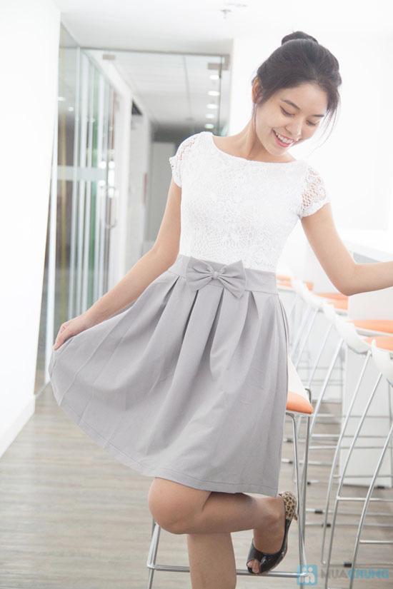 Đầm ren chân váy xòe kết nơ, kiểu dáng thời trang cho bạn gái thêm phần duyên dáng - Chỉ 155.000đ/ 1 chiếc - 3