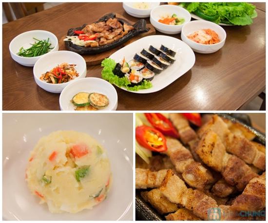 Set ăn: thịt ba chỉ nướng + kim bắp + 6 món phụ cho 2 người tại nhà hàng Sườn Nướng Hàn Quốc - Chỉ 138.000đ - 8