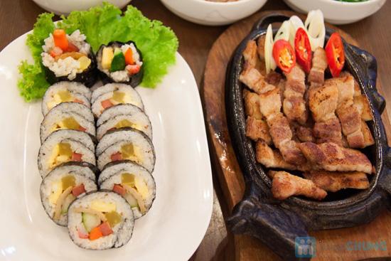 Set ăn: thịt ba chỉ nướng + kim bắp + 6 món phụ cho 2 người tại nhà hàng Sườn Nướng Hàn Quốc - Chỉ 138.000đ - 5