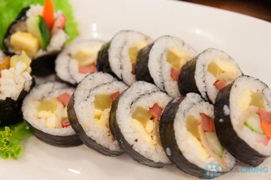 Set ăn: thịt ba chỉ nướng + kim bắp + 6 món phụ cho 2 người tại nhà hàng Sườn Nướng Hàn Quốc - Chỉ 138.000đ - 2