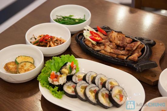 Set ăn: thịt ba chỉ nướng + kim bắp + 6 món phụ cho 2 người tại nhà hàng Sườn Nướng Hàn Quốc - Chỉ 138.000đ - 6