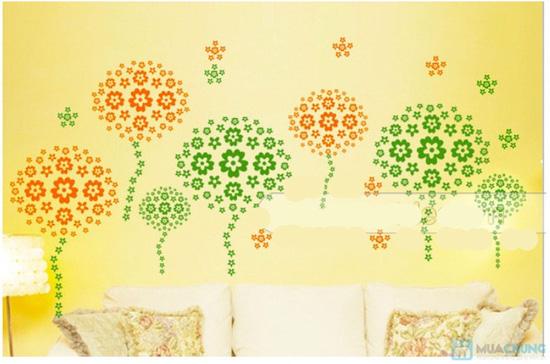 Combo 05 miếng decan hoa dán tường - 5