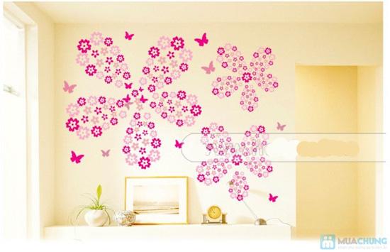 Combo 05 miếng decan hoa dán tường - 3