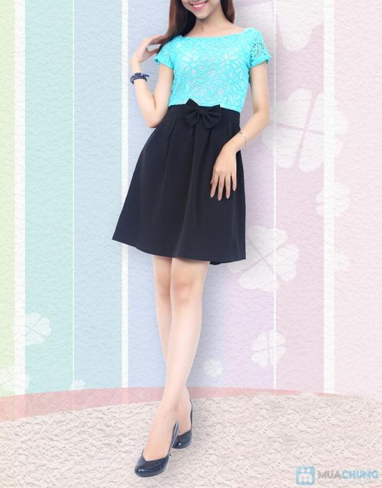 Đầm ren chân váy xòe kết nơ, kiểu dáng thời trang cho bạn gái thêm phần duyên dáng - Chỉ 155.000đ/ 1 chiếc - 2