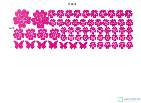 Combo 05 miếng decan hoa dán tường - 6