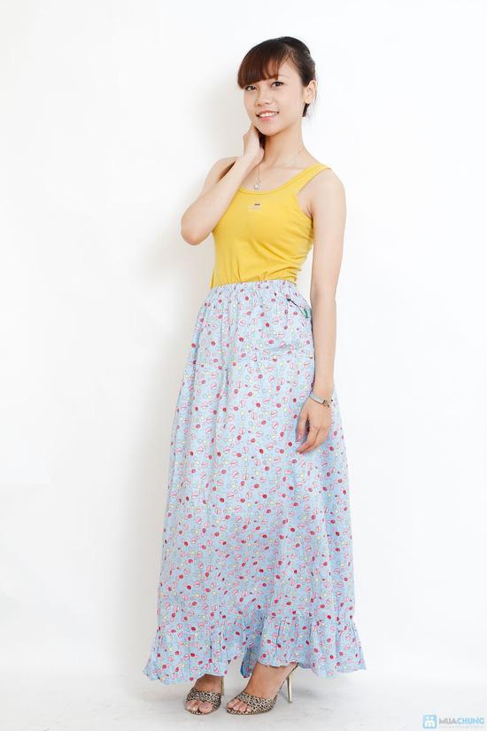 Váy thô hoa 2 lớp chống nắng Tomato - 3
