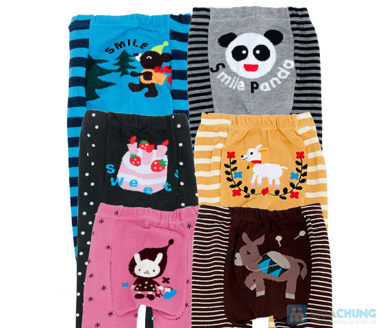 Combo 2 quần len hình thú cho bé - 1