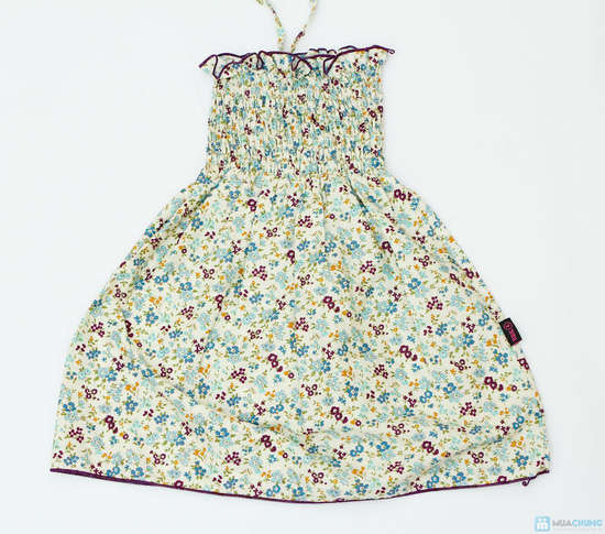 Váy thô hoa nhí đi biển cho bé - 2