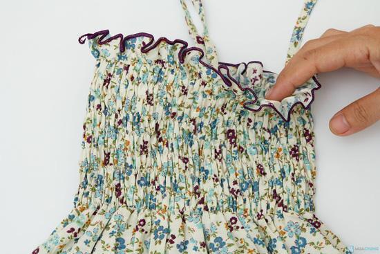 Váy thô hoa nhí đi biển cho bé - 6